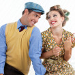 Royalty-Free Stock Photo: Portrait of Happy Retro Couple