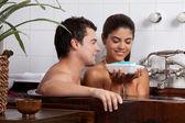 Couple in Bath tub — Stock Photo