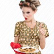 Woman with Cookies - Stock Photo