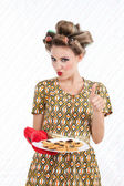 Woman with Cookies — Stock Photo
