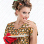 Woman Eating Cookies — Stock Photo
