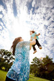 Playful Mother with Daughter — Stock Photo