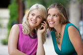 Women Using A Mobile Phone — Stock Photo