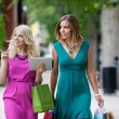 Shopping Women with Digital Tablet — Stock Photo #12753180