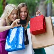Shopping Women taking Photograph — Stock Photo