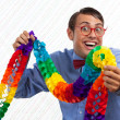 Happy Party Geek — Stock Photo