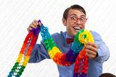 Happy strana geek — Stock fotografie