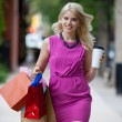 Stock Photo: Shopping Woman with Coffee