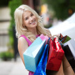 Woman with Shopping Bags — Stock Photo #12807259