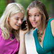 Young Woman Using Cell Phone — Stock Photo