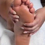 Man Receiving a Foot Massage — Stock Photo