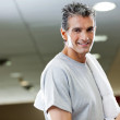Man With Towel In Health Club — Stock Photo #13052898