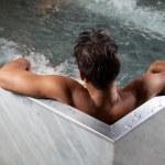 Man in Bathtub — Stock Photo