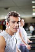 Man On Treadmill In Health Club — Stock Photo