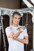 Man Working Out In Fitness Center — Stock Photo