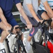 Low Section Of On Exercise Bikes — Stock Photo