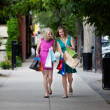 Women Looking at Shopping Bags — Stock Photo