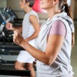 Running On Treadmill — Stock Photo