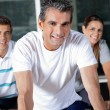 Stock Photo: Happy Friends In Health Club