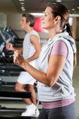 Running On Treadmill — Stock Photo