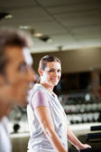 Woman Working Out At Health Club — Stock Photo