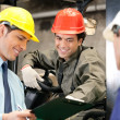 Workers And Supervisors At Warehouse — Stock Photo #14164841