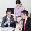 Happy Businesspeople In Meeting - Stock Photo