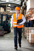 Supervisor In A Hurry At Warehouse — Stock Photo