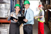 Supervisors Working At Warehouse — Stock Photo
