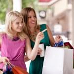 Window Shopping Women — Stock Photo