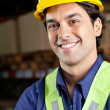 Handsome Foreman Smiling At Warehouse — Stock Photo #14213011