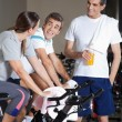 Stock Photo: Friends Communicating During Work Out