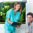 Doctor And Patient In Dental Clinic — Stock Photo