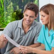 Dentist And Patient Reading Report — Stock Photo