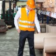Young Supervisor At Warehouse — Stock Photo