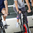 Low Section Of On Exercise Bikes — Stock Photo #14244537