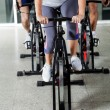 Low Section Of On Exercise Bikes — Stock Photo #14244959