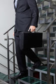Low Section Of Businessman Descending Stairs — Stock Photo