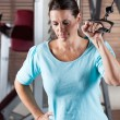 Woman Working Out In Health Club — Stock Photo