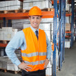 Stock Photo: Confident Supervisor At Warehouse