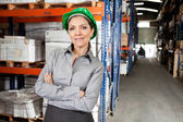 Confident Female Supervisor With Arms Crossed — Stock Photo