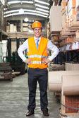 Confident Supervisor at Warehouse — Stock Photo