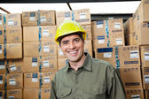 Happy Foreman At Warehouse — Stock Photo