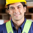 Young Foreman Smiling - Stock Photo