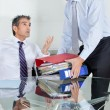 Stockfoto: Businessmen Overwhelmed By Load Of Work
