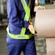 Young Foreman Working At Warehouse — Stock Photo #14540133