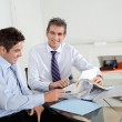 Mid Adult Businessman With Colleague In A Meeting — Stock Photo #14540541
