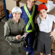 Постер, плакат: Portrait of Happy Foreman With Supervisors