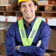 Confident Foreman At Warehouse — Stock Photo