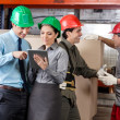Supervisors And Foremen At Warehouse — Foto Stock